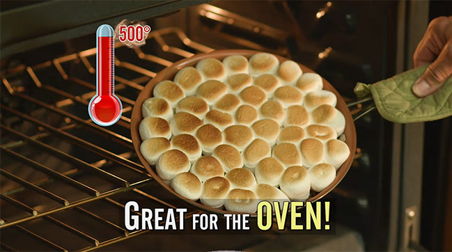 Great for the oven - up to 500 degrees